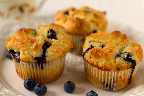 blueberry muffins full of fresh blueberries call out for warm muffins ...